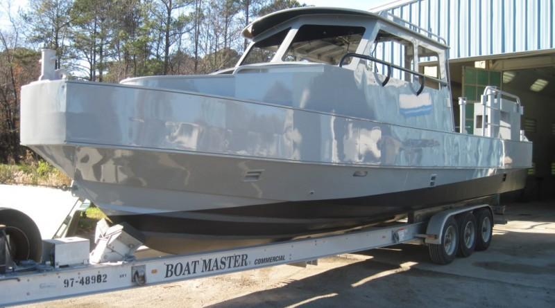 Patrol Boat Blast and Refinish